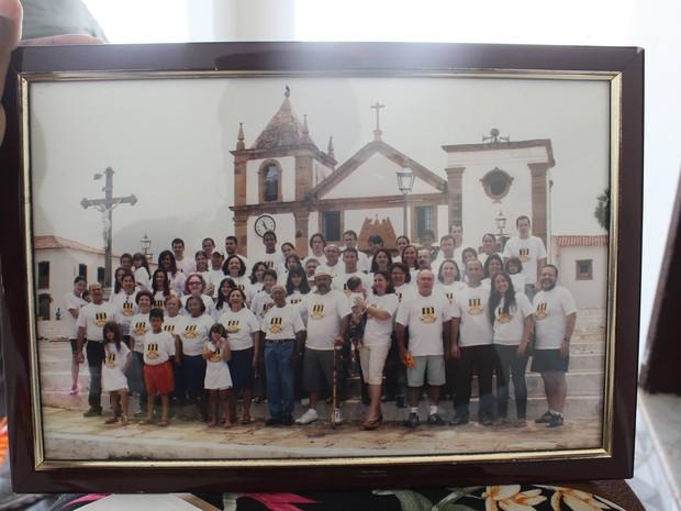 Imagem de um encontro da família Martins em Oeiras (Foto: Gilcilene Araújo/G1)