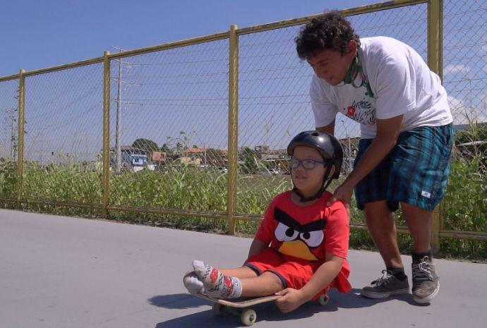 Skate Terapia foi destaque no programa (Foto: Zappeando)