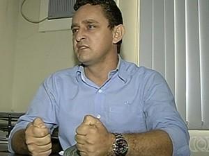 Vereador Josimar Clemente de Oliveira, em Caldas Novas, Goiás (Foto: Reprodução/ TV Anhanguera)