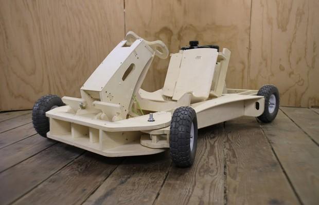 Kart de madeira da empresa The FlatWorks (Foto: Divulgação)