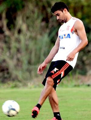 Eduardo da Silva no treino do Flamengo (Foto: Cezar Loureiro / Agência O Globo)