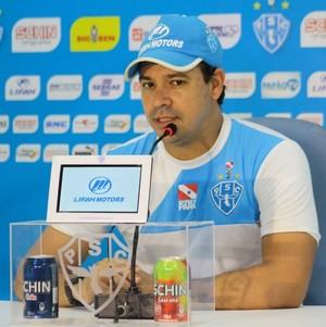 Dado Cavalcanti treinador Paysandu (Foto: Ascom Paysandu )