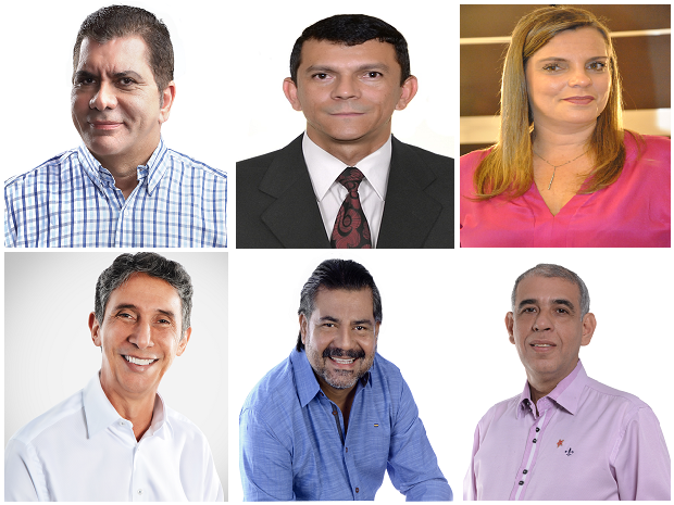 Candidatos Prefeitura de Palmas - Eleições 2016 (Foto: Montagem/G1)