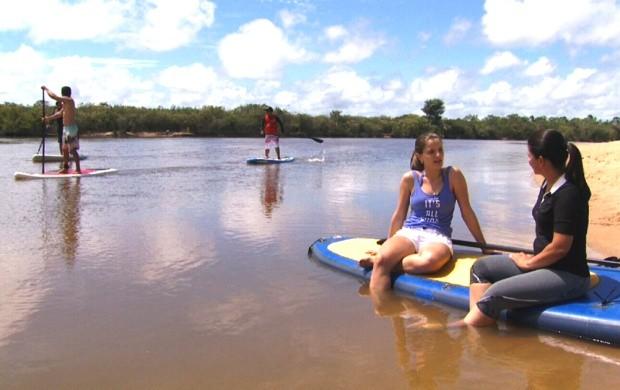Equipe de reportagem acompanhou de perto a prática esportiva (Foto: Amazônia Revista)