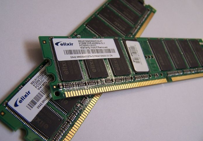 RAM é uma memória de acesso (Foto: Wikimedia Commons)