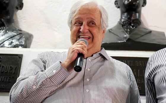 Modesto Roma Júnior, presidente do Santos (Foto: Pedro Ernesto Guerra Azevedo / Santos FC)