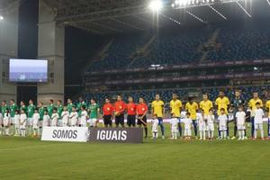 Brasil sub-21 e Bolívia na Arena Pantanal (Foto: Pedro Lima/Divulgação)