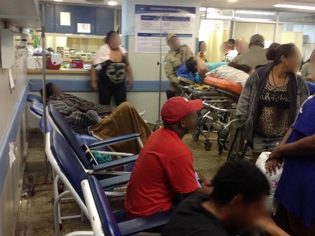 Relatório do Cremerj denuncia superlotação no Hospital Souza Aguiar (Foto: Cremerj/ Divulgação)