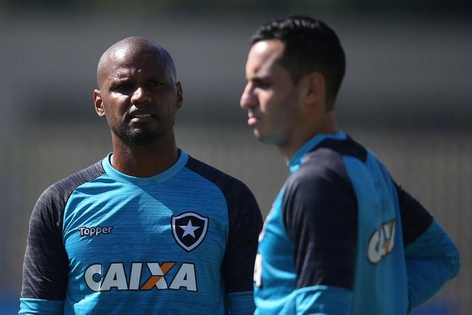 Jefferson e Gatito Fernández, goleiros do Botafogo (Foto: Divulgação)