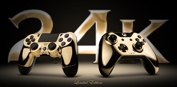 Controles do PS4 e Xbox One ganharão edição não-oficial banhada a ouro 24 quilates (Foto: Divulgação)