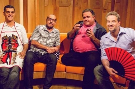 'Saia justa': Eduardo Moscovis, Xico Sá, Leo Jaime e Dan Stulbach (Foto: Divulgação/GNT)