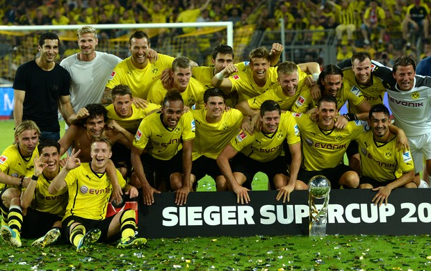 Borussia Dortmund troféu Supercopa da Alemanha (Foto: AFP)