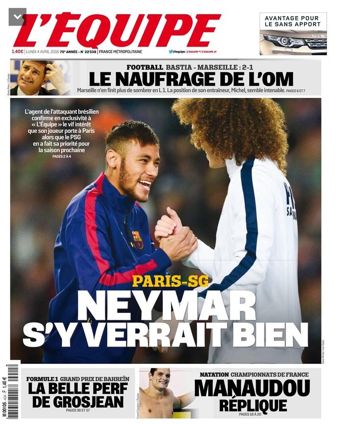 Neymar Capa Lequipe (Foto: Divulgação)