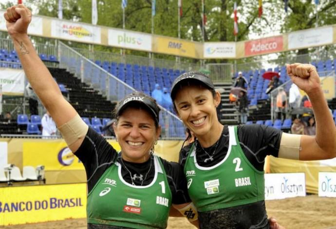 Larissa e Talita são campeãs na Polônio em torneio quatro estrelas do Circuito Mundial de vôlei de praia (Foto: Reprodução / Instagram)