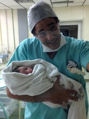 Luciano Szafir com o filho Davi (Foto: Divulgação)