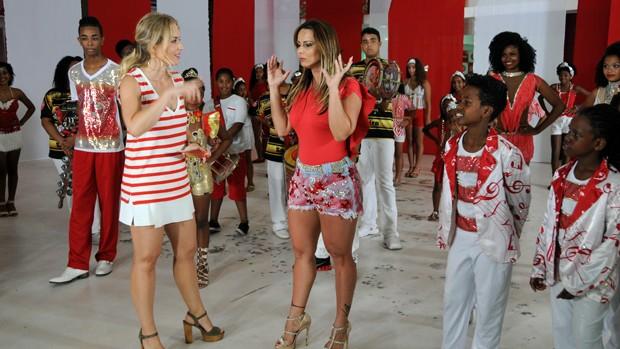 Estrelas: Angélica cai no samba com Viviane Araújo (Deborah Montenegro/Globo)