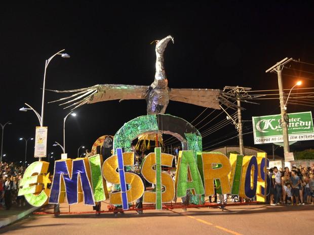 Emissários da Cegonha desfilou no grupo de acesso (Foto: Abinoan Santiago/G1)