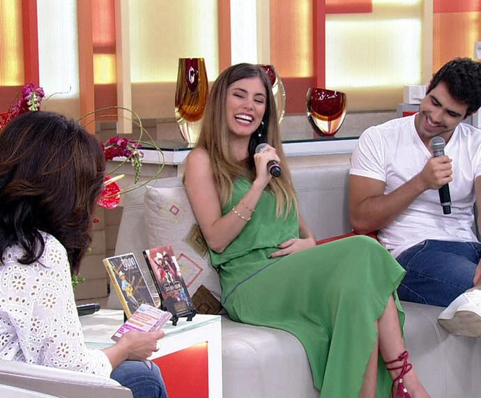 Bruna Hamú conta detalhes de sua gravidez no 'Encontro' (Foto: TV Globo)
