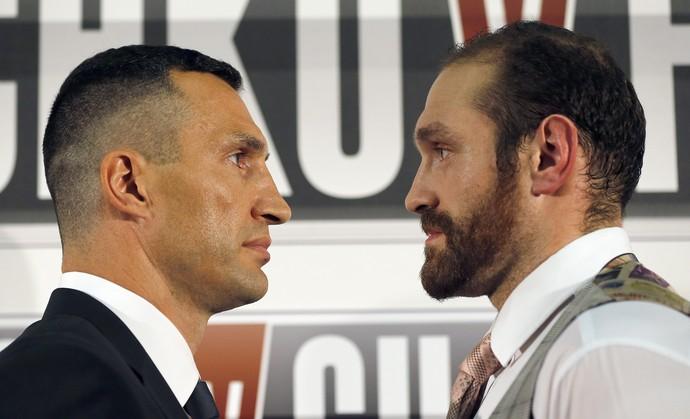 Wladimir Klitschko, Tyson Fury, coletiva, boxe (Foto: AP)