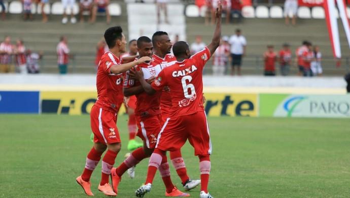 CRB comemorando gol -  CRB x Santa Rita (Foto: Ailton Cruz/Gazeta de Alagoas)