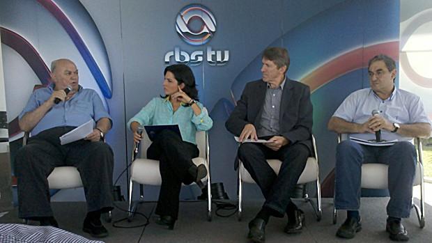 Lideranças do agronegócio debateram infraestrutura e logística na Expodireto (Foto: Mateus Rodighero/RBS TV)