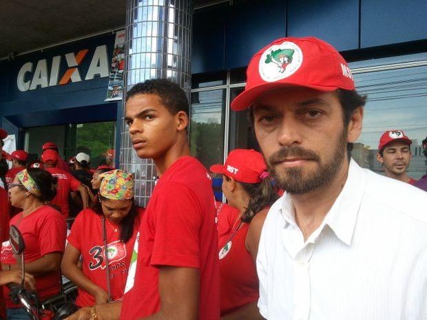 Esmeraldo Leal, diretor do MST em Sergipe (Foto: Marina Fontenele/G1)