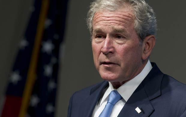 O ex-presidente dos EUA George W. Bush dá palestra nesta terça-feira (15) em Washington (Foto: AFP)