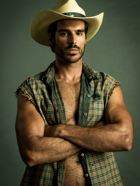 Anderson Tomazini caracterizado como Xodó (Foto: TV Globo/Raquel Cunha)