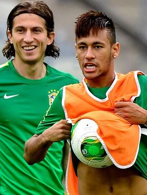 Neymar treino seleção brasileira em Belo Horizonte (Foto: AFP)