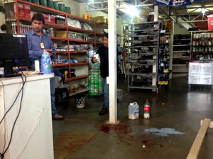 Policial morreu após ser baleado no bairro União, em Campo Grande. (Foto: Mirian Machado/ G1 MS)