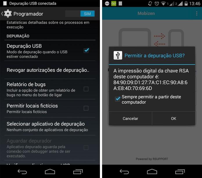 Depuração USB no Android (Foto: Reprodução/Marcela Vaz)