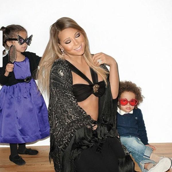 Mariah Carey e os gêmeos Monroe e Moroccan (Foto: Instagram)