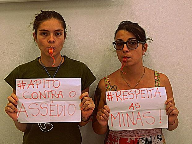 Campanha pede respeito às mulheres em São Luiz do Paraitinga (Foto: Marina Gabos/ Arquivo Pessoal)