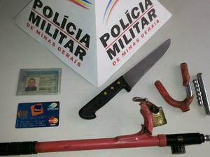 Prisão em Itapecerica Assalto (Foto: PM/Divulgação)