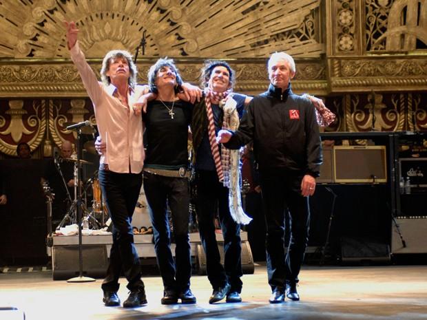 A banda Rolling Stones em cena do filme 'Shine a Light', de 2008, do diretor Martin Scorsese (Foto: AFP)
