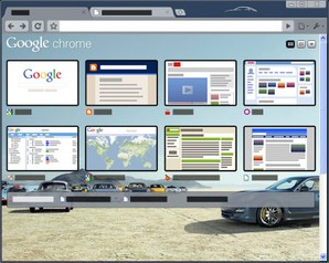 Interface Theme at Porsche Google Chrome
