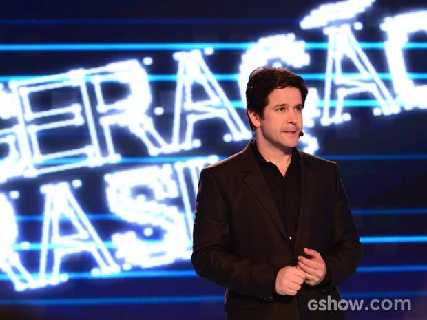 Jonas apresenta mais uma etapa do Concurso Geração Brasil (Foto: Raphael Dias/TV Globo)
