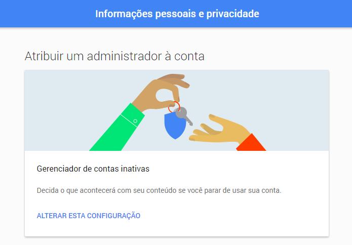 Aprenda a configurar um herdeiro para sua conta Google (Foto: Reprodução/Paulo Alves)
