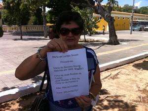 Maria de Lurdes Sousa (Foto: Thiago Conrado/ G1)