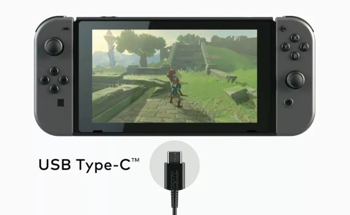 Nintendo Switch é o primeiro da marca a abandonar os carregadores proprietários (Foto: Reprodução/Felipe Demartini)