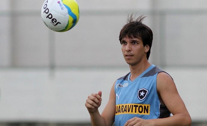 Zeballos treino Botafogo (Foto: Vitor Silva/SSPress)