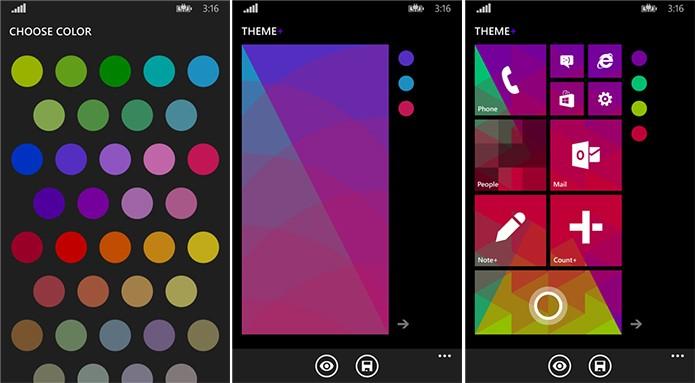 Theme+ é um aplicativo que personaliza a tela inicial do Windows Phone com diversas cores (Foto: Divulgação/Windows Phone Store)
