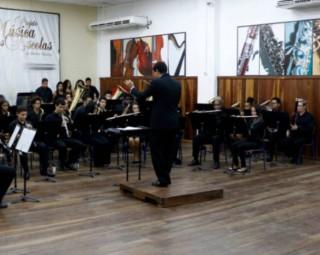Banda Sinfônica se apresenta em Barra Mansa (Foto: Divulgação/ Assessoria Projeto Música nas Escolas)