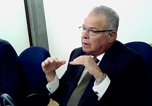O empresário Emilio Odebrecht em depoimento ao juiz Sérgio Moro (Foto: Reprodução/YouTube)