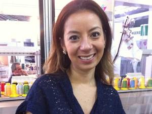 5539c54b1 Estilista paulista Thaís Gusmão se diz impressionada com peças produzidas  em Pontalina (Foto  Fernanda