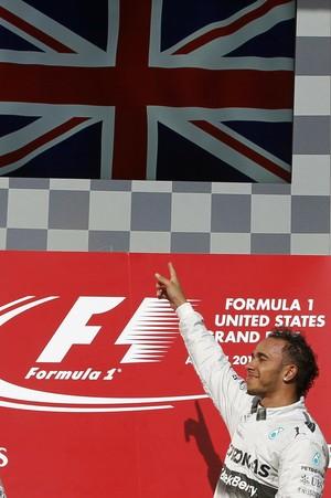 Lewis Hamilton se tornou o britânico com mais vitórias na Fórmula 1 (Foto: Reuters)