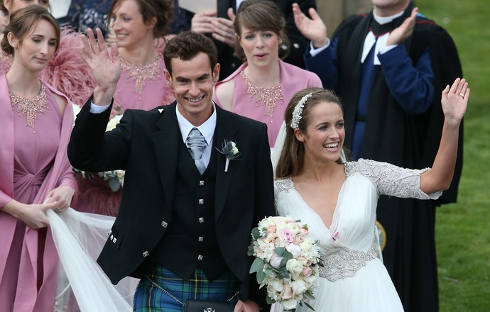 Andy Murray Kim Sears casamento Escocia (Foto: AP)