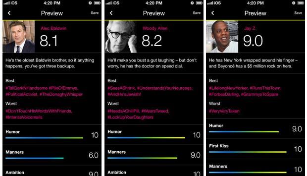 Mulheres podem avaliar o desempenho masculino por meio do aplicativo Lulu. (Foto: Divulgação/Lulu)