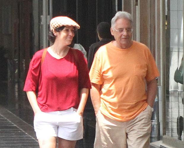 Ex-presidente Fernando Henrique Cardoso e a namorada, Patrícia Iscarlat (Foto: Daniel Delmiro/ AgNews)