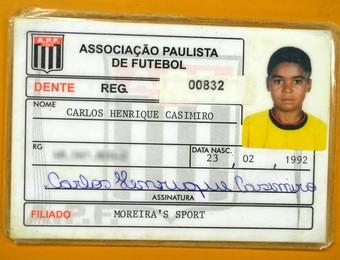 Casemiro carteirinha Moreira (Foto: Danilo Sardinha/GloboEsporte.com)